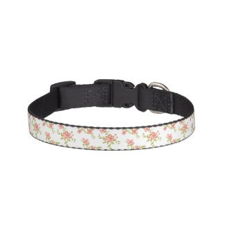 Pink Flowers Pet Collar