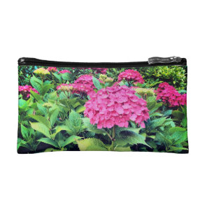 Pink  Flowers Photo Small Cosmetic Bag
