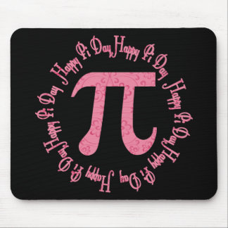 Pink Flowers Pi Day Gifts and Tees Mouse Pad