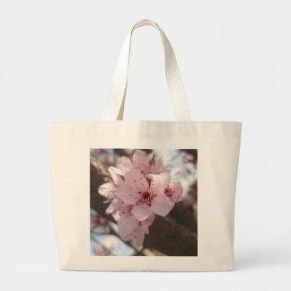 Pink Flowers - Plum Tree Canvas Bag