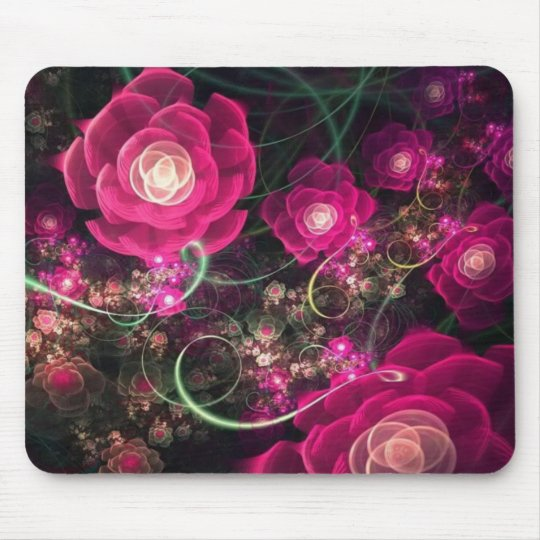 Pink Flowers Say It Best Mousepad