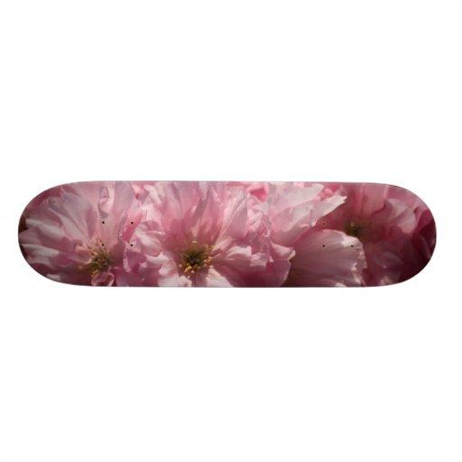 Pink Flowers Skate Board Decks