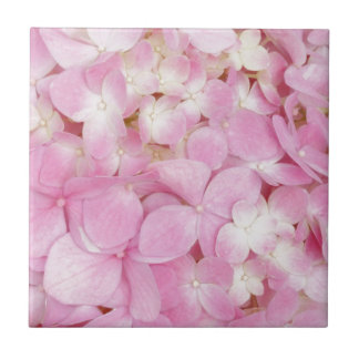 Pink Flowers Spring Small Square Tile