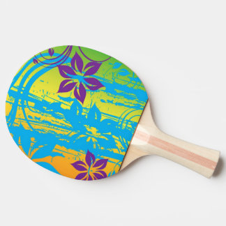 pink flowers swirl vector art Ping-Pong paddle