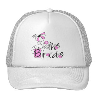 Pink Flowers the Bride Hat