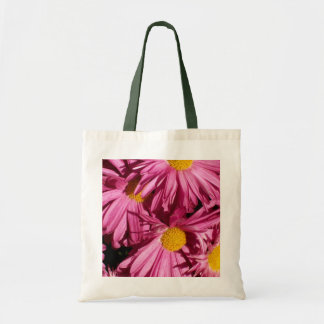 Pink Flowers Tote Canvas Bags