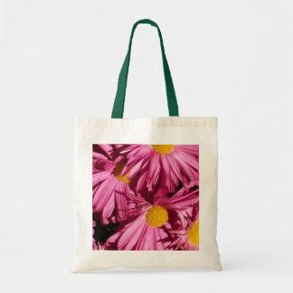 Pink Flowers Tote Budget Tote Bag
