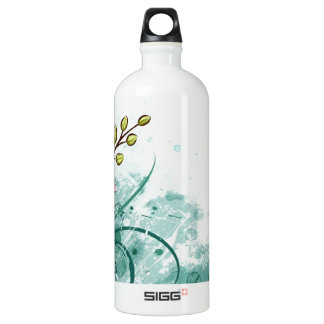 pink flowers water bottle