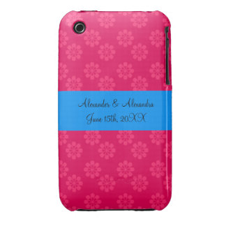 Pink flowers wedding favors iPhone 3 cover