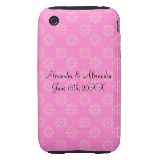Pink flowers wedding favors iPhone 3 tough cases