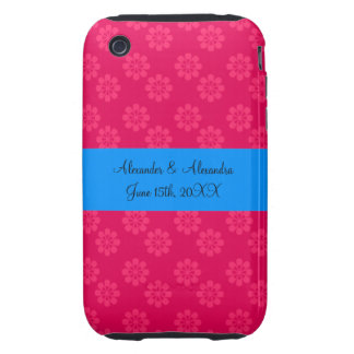 Pink flowers wedding favors iPhone 3 tough case