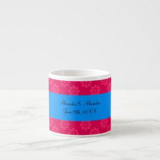 Pink flowers wedding favors espresso mug
