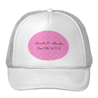 Pink flowers wedding favors hats