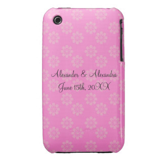 Pink flowers wedding favors iPhone 3 covers