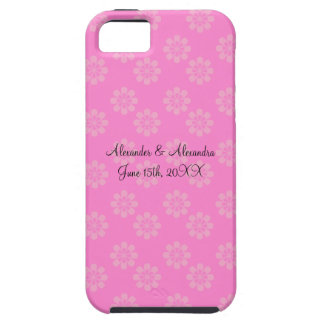Pink flowers wedding favors iPhone 5 case