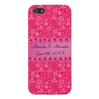 Pink flowers wedding favors iPhone 5 covers