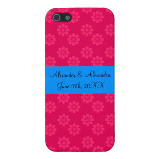 Pink flowers wedding favors iPhone 5 cases