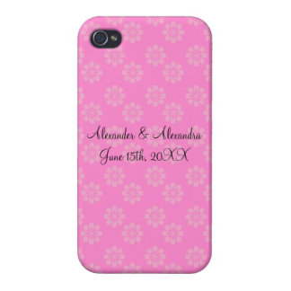 Pink flowers wedding favors iPhone 4/4S cases