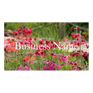 Pink Flowery Business Card