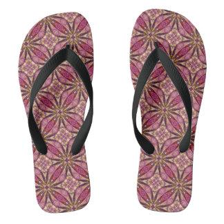 Pink Flowery Flip Flops