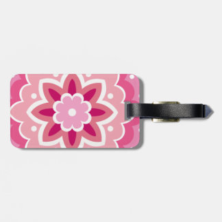 Pink & Flowery... Luggage Tag
