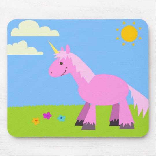 Pink Fluffy Unicorn Mouse Mat
