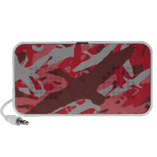 Pink Flying Duck Camo Portable Speakers