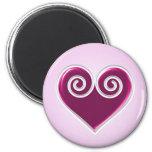 Pink Foil Heart Magnet