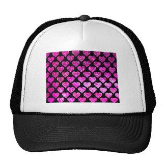 Pink Foil Hearts Cap