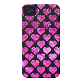 Pink Foil Hearts Case-Mate iPhone 4 Cases