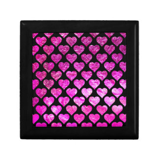 Pink Foil Hearts Gift Box