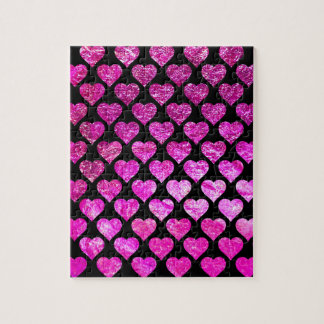Pink Foil Hearts Jigsaw Puzzle