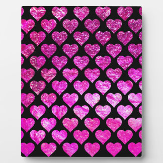 Pink Foil Hearts Photo Plaques