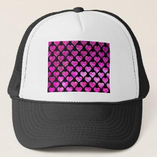 Pink Foil Hearts Trucker Hat