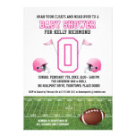 Pink Football Baby Shower