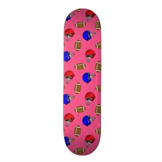 pink footballs helmets pattern skate boards