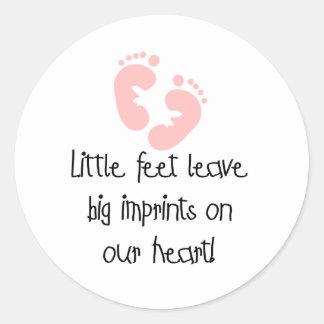 Pink Footprints Little Feet Big Imprints Stickers