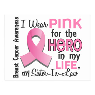 Pink For Hero 3 Sister-In-Law Breast Cancer Postcard