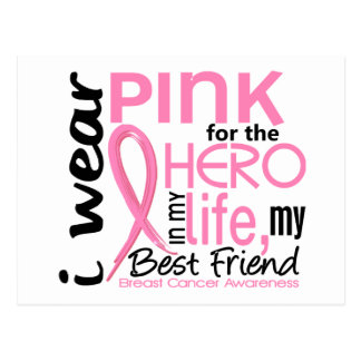 Pink For Hero In Life 2 Best Friend Breast Cancer Postcard