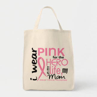 Pink For Hero In Life 2 Mom Breast Cancer Canvas Bag
