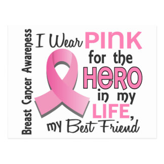 Pink For Hero In Life 3 Best Friend Breast Cancer Postcard