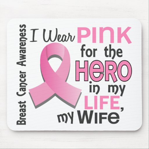 Pink For Hero In My Life 3 Wife Breast Cancer Mousepads