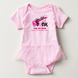 Pink for Mom Breast Cancer Awareness Baby Tutu Baby Bodysuit