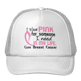 Pink For Someone I Need Breast Cancer Mesh Hats