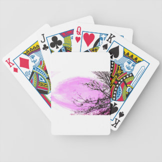 Pink Forest design by Jane Howarth Bicycle Playing Cards