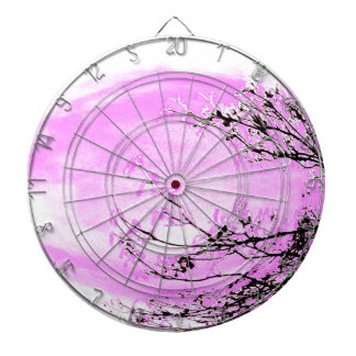 Pink Forest design by Jane Howarth Dartboard