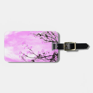 Pink Forest design by Jane Howarth Luggage Tag