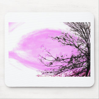 Pink Forest design by Jane Howarth Mouse Mat