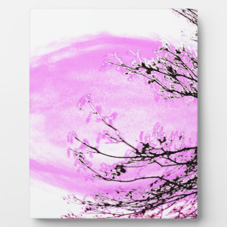 Pink Forest design by Jane Howarth Plaque