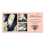 PINK FORMAL COLLAGE | WEDDING THANK YOU CARD PERSONALISED PHOTO CARD